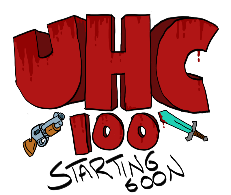 My splash screen for the UHC 100 livestream I hosted. The stream was a failure, but the art wasn't!