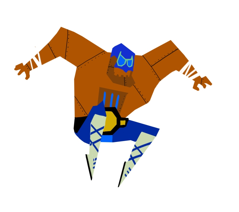 GuacaZippo! A little thumbnail art of my roboty character for my new Guacamelee series!
