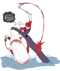 """Vechs Fighting a Bloody shark!"""