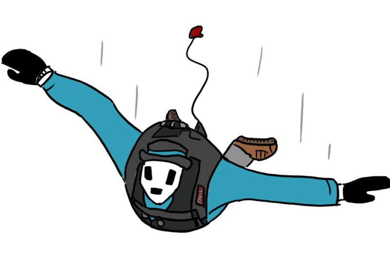 """can you draw me skydiving?"" Yes Bluecomputers, I can!"