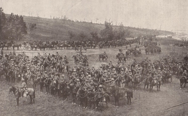 Indian cavalry from the Deccan Horse during the Battle of Bazentin Ridge